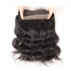 Hot Beauty Hair Peruvian Body Wave 360 Lace Frontal With Cap 10-20inch Natural Hairline 100% Remy Human Hair