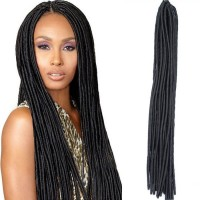 "Curly Twist Crochet Braiding Hair 18""  Crochet Braids Hair Extension Faux Locs"