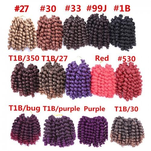 Jumpy Wand Curl Jamaican Bounce Synthetic Braiding Hair Extension Crochet Braid Kanekalon For Black Woman