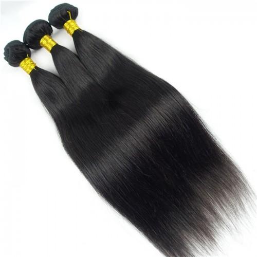Hair Straight Brazilian Hair Weave Bundles 8-28Inch 100% Human Hair Bundles Natural Black Remy Hair Extensions